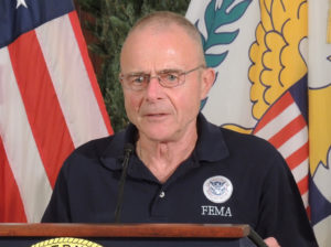 Federal Coordinating Officer of FEMA Region II Bill Vogel says 43 percent of the territory has had power restored. (Jamie Leonard photo)
