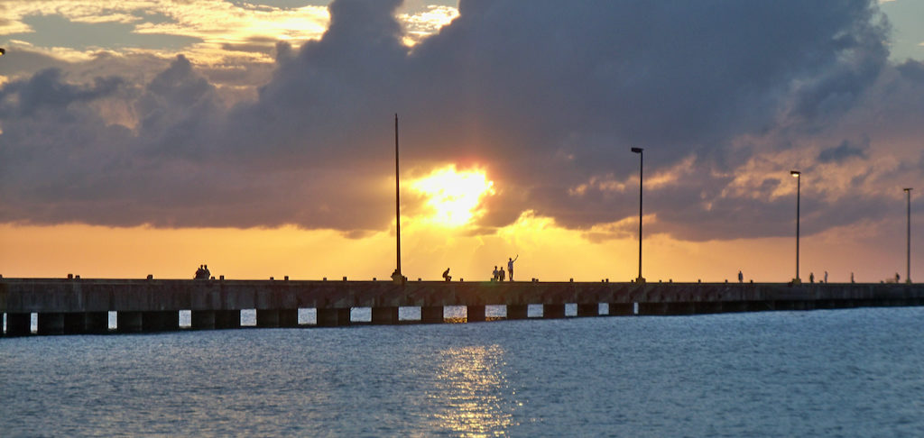 The Frederiksted Pier, called by locals 'the longest recreational swim pier in the world.' (Don Buchanan photo)