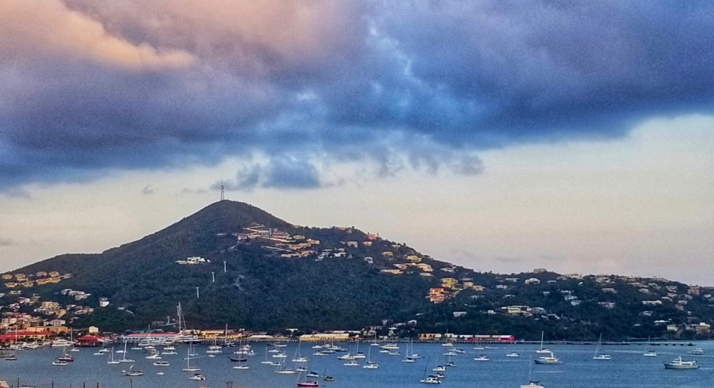 Boats crowd Charlotte Amalie harbor. (Source photo by Bethaney Lee)