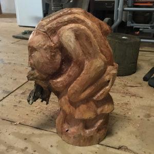 """The """"Medicine Man"""" by sculptor Ras Ilix Heartman. (Source photo by Elisa McKay)"""